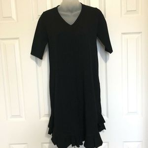 Karen Millen Dress Small Black Short Sleeves Strec